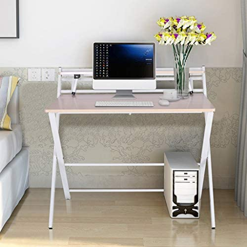 Computer Desk, Kimanli Modern Simple Folding Study Desk for Small Space Home Office Desk Simple Laptop Writing Table