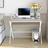 """Peacur Foldable Writing Computer Desk, 32"""" Small"""