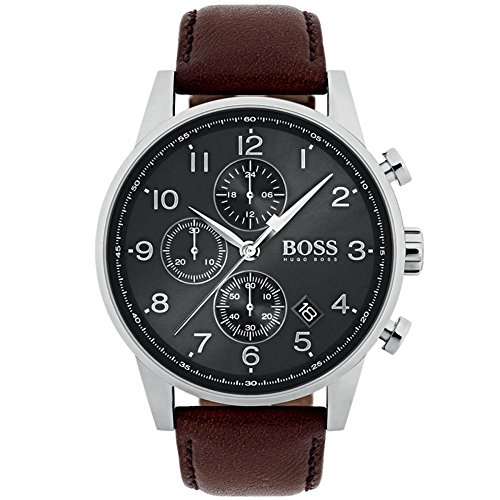 Hugo Boss 1513494 Brown 44mm Stainless Steel Navigator Men's Watch