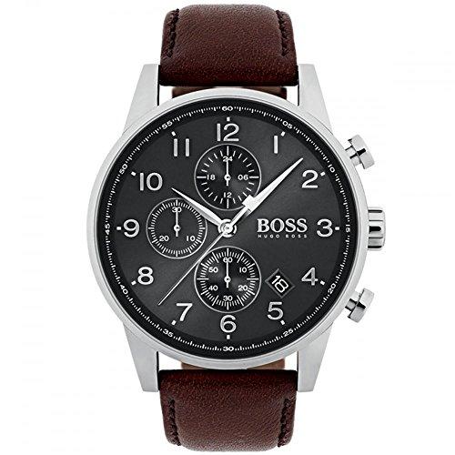 Hugo Boss 1513494 Brown 44mm Stainless Steel Navigator Men's Watch