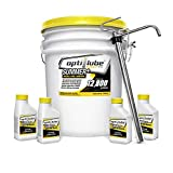 Opti-Lube Summer+ Formula Diesel Fuel Additive: 5 Gallon Pail with 1 Heavy Duty Metal Pail Pump and 4 Empty 4oz Bottles. Treats up to 12,800 Gallons