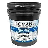 Roman 012405 PRO-880 Ultra Clear Adhesive, 5 gal