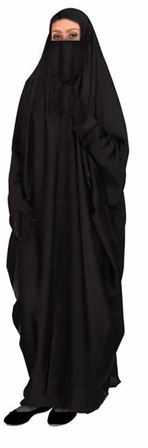 Egypt gift shops MODEST Muslim Women Maxi Islamic khimar Malhafa Isdal Izdal Chador Abaya Dress Burqa + Half Niqab + Gloves