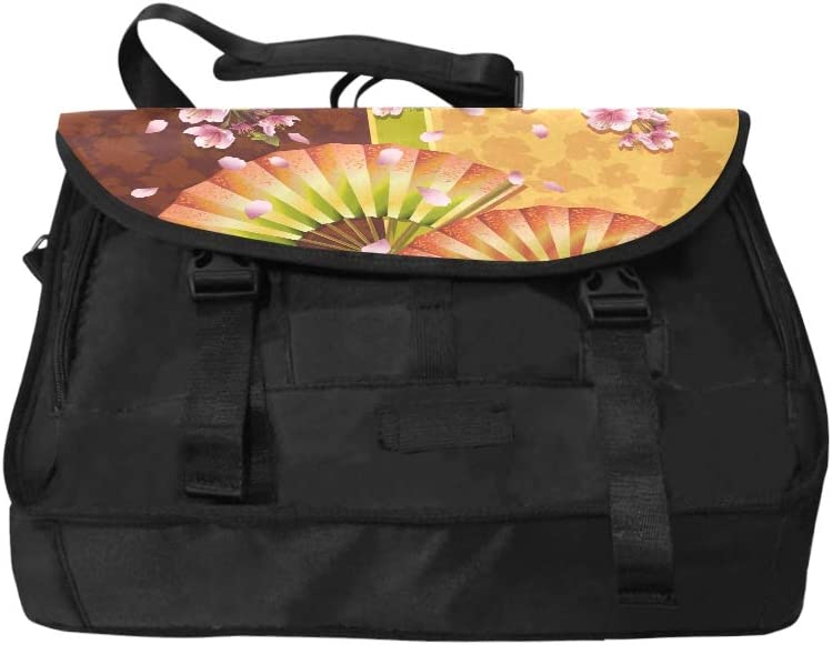 Laptop Briefcases for Women with Two Fans and Sakura Japanese Che Multi-Functional Laptop Bag for Teens Fit for 15 Inch Computer Notebook MacBook