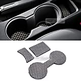 hyundai cup holder insert - Carbon Style Console Cup Holder Insert Tray Pad 3p for HYUNDAI 14-16 Elantra MD