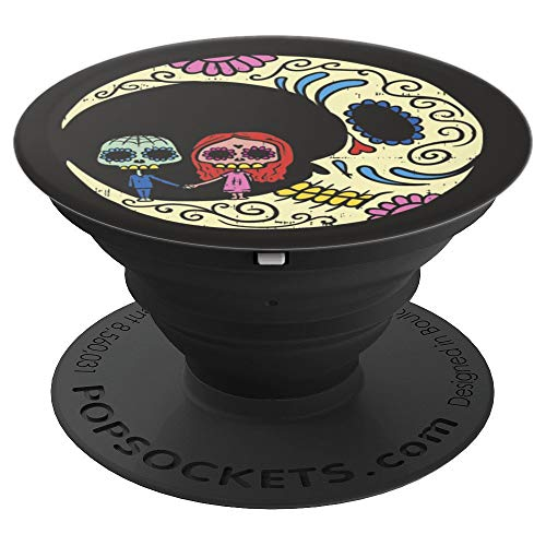 Sugar Skull Couple Floral Moon Pop-Socket Cute Calavera Gift - PopSockets Grip and Stand for Phones and -