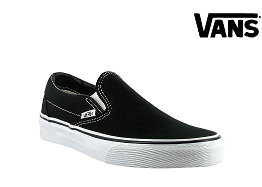 vans classic slip on black and white