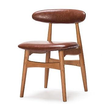 Wooden stool Sillas de Respaldo de Madera Maciza ...