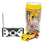 Coke Can Fast Mini RC Micro Racing Car RC Hobby Vehicle Toy?1PCS? (YELLOW RED)