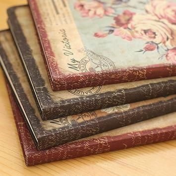 Da.WA note Book diario Notepad diario da viaggio retro Flower Series Hardcover personalizzata organizer computer portatile 14cm*23cm Style#3