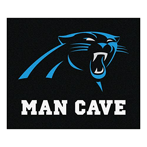 FANMATS 14279 NFL Carolina Panthers Nylon Universal Man Cave Tailgater Rug