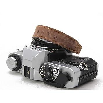 AKDSteel - Correa de Piel para cámara réflex Digital (Hecha a Mano ...