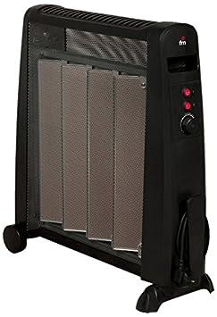 FM Calefacción RM-20 Negro 2000W Radiador - Calefactor (Radiador, Piso, Negro, Giratorio, 2000 W, 1000 W): Amazon.es: Hogar