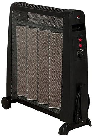 FM Calefacción RM-20 Negro 2000W Radiador - Calefactor (Radiador, Piso, Negro