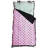 AnnLoren Toddler Girls Pink Panda & Bamboo Cozy Plush School Nap Time Mat