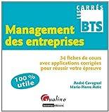 Management des entreprises : 34 fiches de cours avec applications corrigées pour réussir votre épreuve