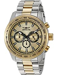 Invicta Mens Speedway Quartz Stainless Steel Casual Watch, Color:Two Tone (Model: 21798)