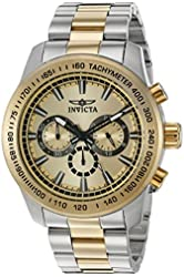 Invicta Men's 'Speedway' Quartz Stainless Steel Casual Watch, Color:Two Tone (Model: 21798)