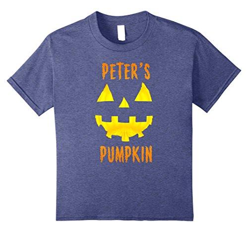 Kids Couples Halloween Costume Ideas Peter's Pumpkin T-Shirt 8 Heather Blue
