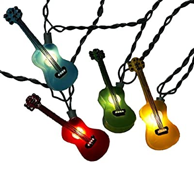 Kurt Adler UL1855 Multi-Colored Guitar Light Set, 10 Light
