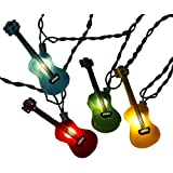 Kurt Adler UL1855 Multi-Colored Guitar Light Set, 10 Light