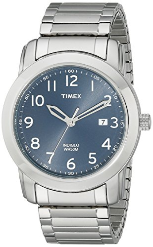 Timex Men's T2P132 Highland Street Silver-Tone Stainless Steel Expansion Band Watch (Band Bezel Wrist Watch)