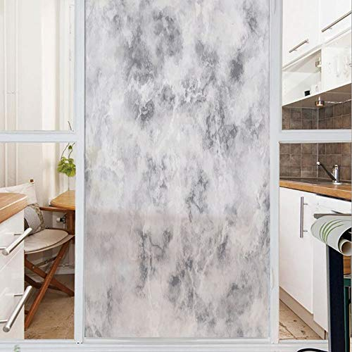 Decorative Window Film,No Glue Frosted Privacy Film,Stained Glass Door Film,Granite Surface Pattern with Stormy Details Natural Mineral Formation Print Decorative,for Home & Office,23.6In. by 35.4In L