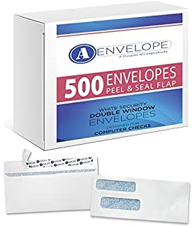 Amazoncom Double Window Security Gummed Check Envelopes - Intuit invoice envelopes