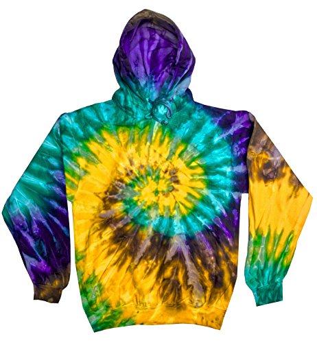 Colortone Tie Dye Hoodie 2X Mardi Gras ()