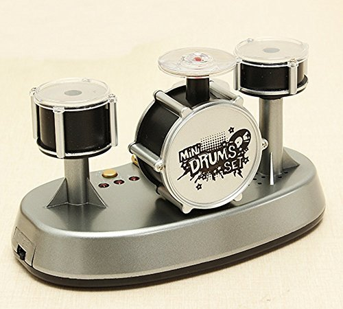 Mini Finger Drum Set Music Touch Drumming Led Light Jazz Percussion