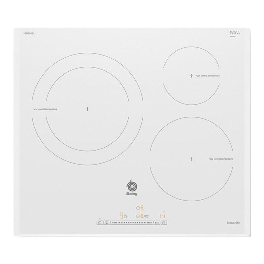 Balay 3EB965BU hobs Blanco Integrado Con - Placa (Blanco, Integrado, Con placa de inducción, Vidrio, 1400 W, Alrededor): 411.4: Amazon.es: Grandes ...