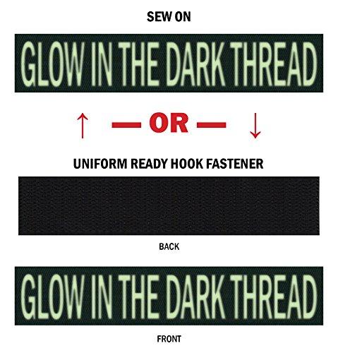 "Northern Safari Custom Glow-In-the-Dark Uniform Name Tapes, over 50 Fabrics Made in the USA! Hunter Green 6"" Uniform Ready Hook Fastener"