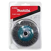 "Makita 1 Piece - 4 Inch Crimped Wire Wheel Brush For Grinders - Light-Duty Conditioning For Metal - 4"" x 5/8-Inch 