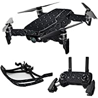 MightySkins Skin for DJI Mavic Air Drone - Black Diamond Plate | Max Combo Protective, Durable, and Unique Vinyl Decal wrap cover | Easy To Apply, Remove, and Change Styles | Made in the USA