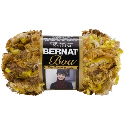 Spinrite Boa Yarn, Golden Spice