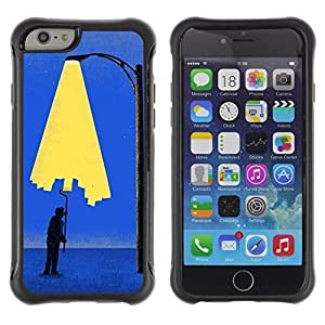 "Pulsar iFace Series Tpu silicona Carcasa Funda Case para Apple iPhone 6+ Plus(5.5 inches) , Pintura Art City Light Wall Street Lamp Post"""