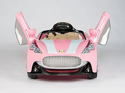 Pink Roadster Pedal Car - 2017 GT Roadster NEW MASERATI STYLE Battery Powered - 12V Battery GT Roadster ,2 Motors, Opening doors , Remote control,MP3 player input.