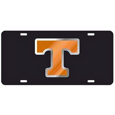 Craftique Tennessee Volunteers Black Laser Cut License Plate - Orange & Mirror T: Automotive [5Bkhe1009643]