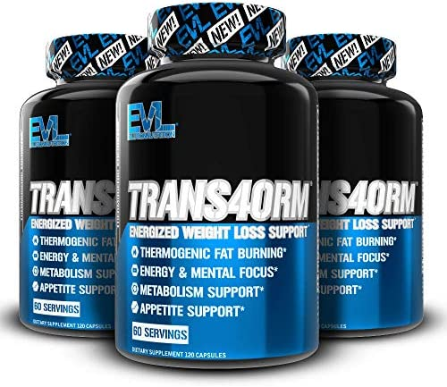 Evlution Nutrition Trans4orm - Complete Thermogenic Fat Burner for Weight Loss, Clean Energy and Focus with No Crash, Boost Metabolism, Suppress Appetite, Diet Pills (60 Servings) 5