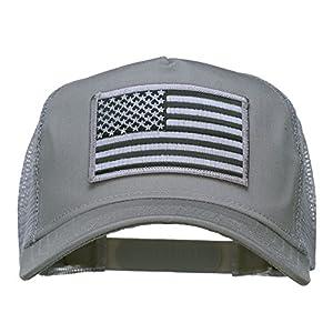 American Flag Patch Mesh Cap - Grey OSFM