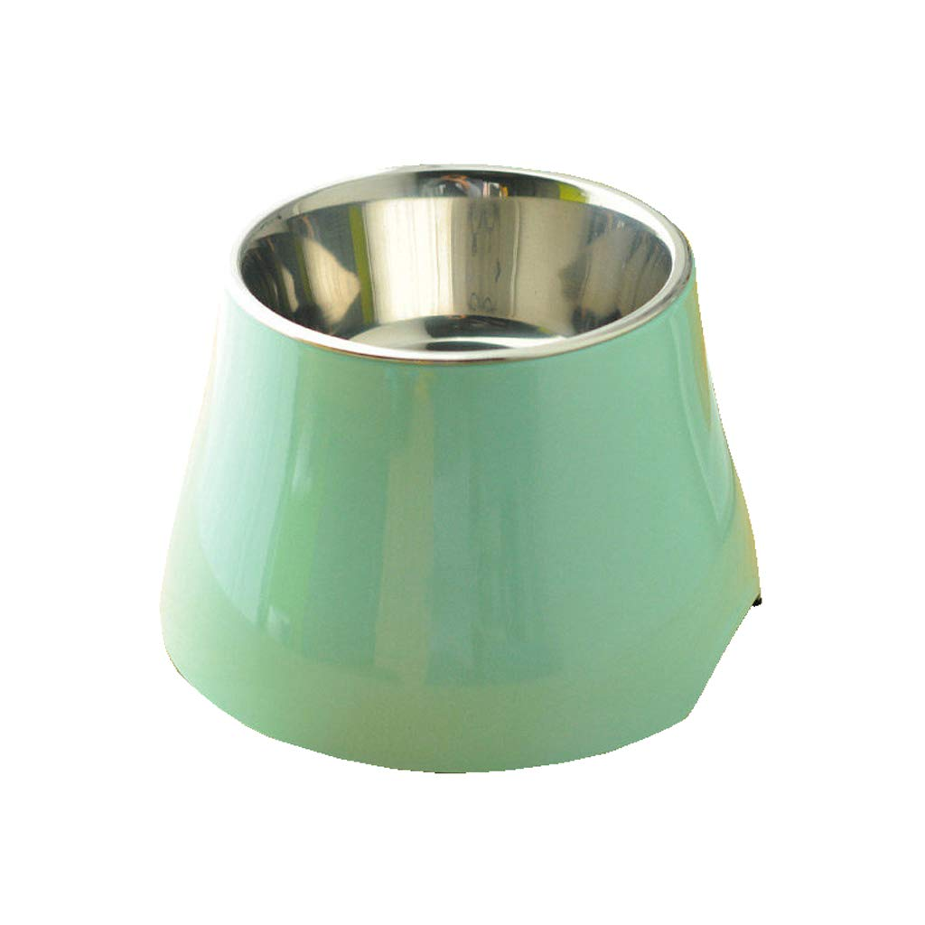 GREEN L GREEN L Pet Bowl Dripless, Spill Proof, No Skid Water Or Food + Great for Dogs, Puppy, Cats, and Small Or Large Breeds,2 Sizes (color   Green, Size   L)