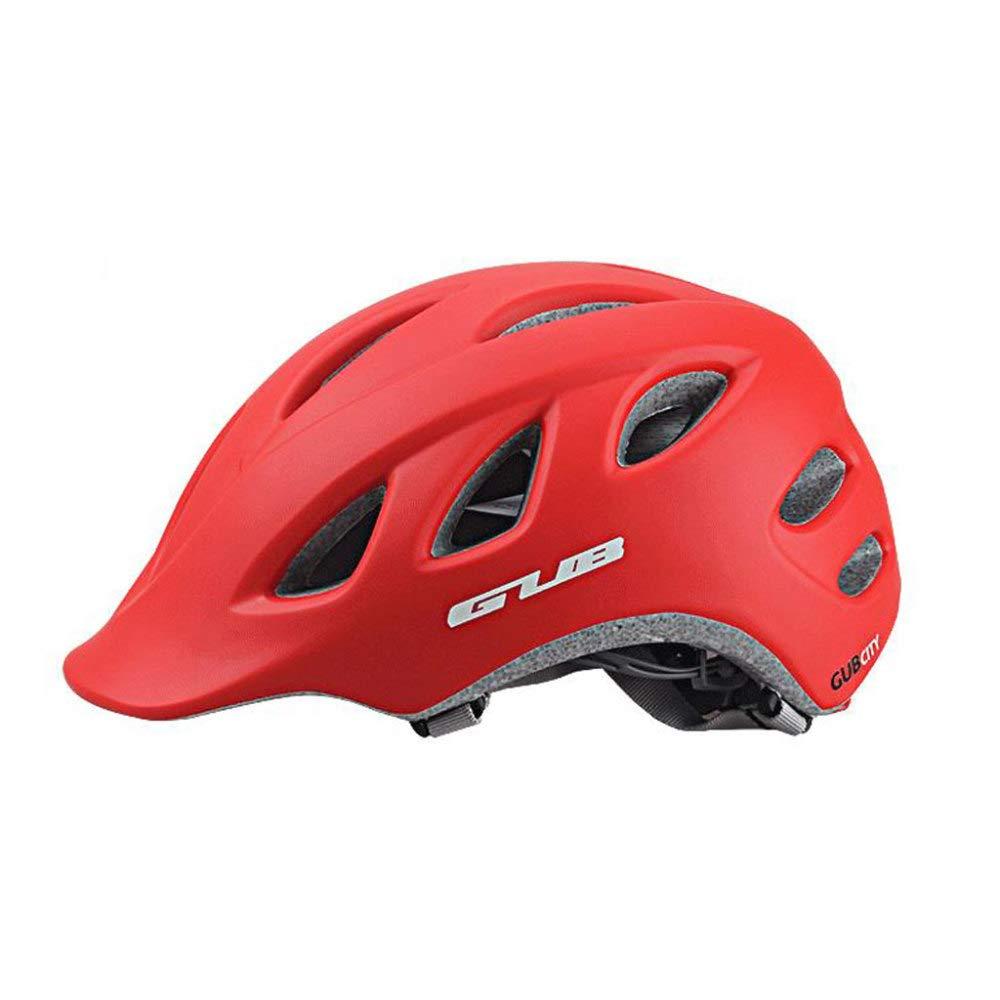 HELMET Fahrradhelm 18 Vents Verstellbarer Komfort Atmungsaktiv Schutzhelm Outdoor Sports Radfahren,ROT