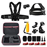 Accessories Kits for GoPro Hero camera (20-in-1) for Snorkeling, Surfing, Wakeboarding Fitting GoPro Hero2018 HERO 6,5,4, 3+, 3, 2, Session, Black, Silver, and Xiaomi Yi, and Other Digital Cameras…