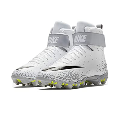 new product 4c26e bb3e0 Nike Men s Force Savage Shark Football Cleat - White Black-Wolf Grey -  880109