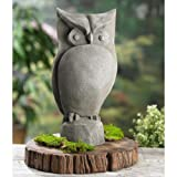 KINDWER Garden Owl Statue, 15-Inch For Sale