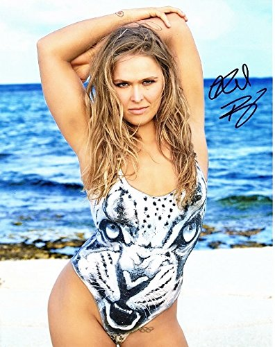 Ronda Rousey Signed - Autographed Sexy Sports Illustrated Body Paint Swimsuit 11x14 inch Photo - Guaranteed to pass PSA or JSA -MAHOGANY CUSTOM FRAME - UFC Champion - mixed martial artist fighter