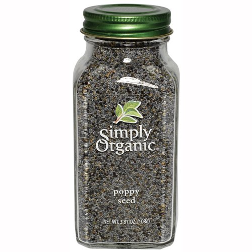 Simply Organic Poppy Seed Whole Certified Organic, 3.81-Ounce Containers  (Pack of 3) by Simply Organic