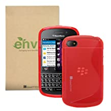 GreatShield Guardian S Series Slim-Fit S-Line Design TPU Case for BlackBerry Q10 (Red)