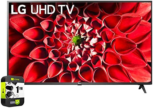 LG 70UN7070PUA 70 inch UHD 70 Series 4K HDR AI Smart TV Bundle with 1 Year Extended Protection Plan