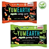 COMBO PACK – Organic Candy Corn AND Organic Gummy Fruits – 24 Snack Packs Each – YUMEARTH – Halloween – Limited Edition – Gluten Free – No Nuts – USDA Organic